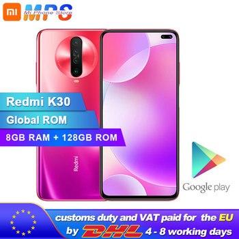 Перейти на Алиэкспресс и купить Смартфон Xiaomi Redmi K30 с глобальной прошивкой, 8 ГБ, 128 ГБ, 4G, Восьмиядерный процессор Snapdragon 730G, камера 64 мп, 120 Гц, жидкий дисплей, 4500 мАч