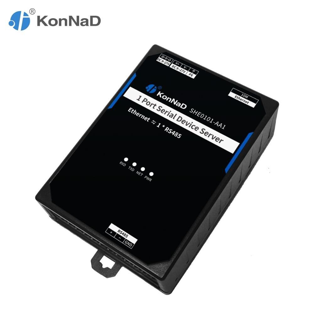 RS485 To Ethernet 1 Port Bidirectional Transparent Transmission Support VCOM 10M Bandwidth Serial Device Server KonNaD