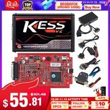 KESS V2 V5.017 en línea completa V2.47 Gerente sintonización herramienta KTAG V7.020 4 LED Maestro K tag V2.25 KESS BDM Titanio Winols Unidad de control electrónico programador