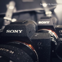 ชั้น Anti Scratch กล้องผิวป้องกันสวมใส่สีดำสำหรับ Sony A7R4 A7R3 A7M3 A7R2 A7M2 A7 a6500a6400 A6000