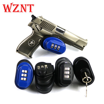 Free shipping Gun Trigger Lock Zinc Alloy Trigger Password Lock Rifle Key Protecting Safety Lock Hunting Gun Accessories цена 2017