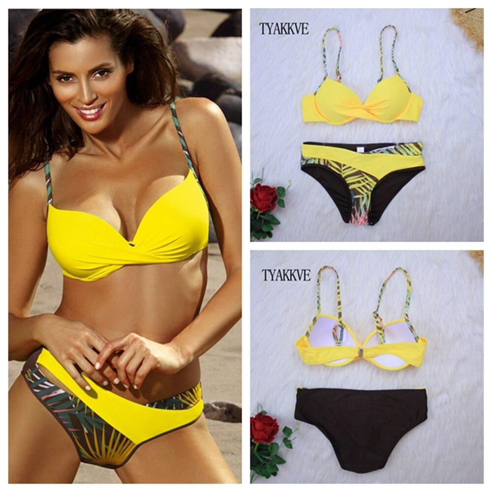 2020 push up bikini conjunto retalhos maiôs ruched banho feminino sexy biquini cintura alta amarelo beach wear verão xxl