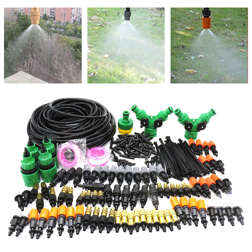 5M/10M/20/25M/30M Garden Pouring Drip Automatic Irrigation System Irrigation Kit Adjustable Drip Spray Watering Irrigation Kit