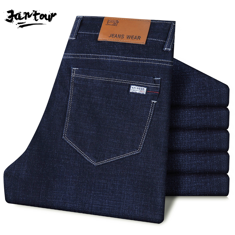 2020 summer Men Casual Biker Denim Jeans Stretch Denim Pants Solid Straight Fit Jeans Male Street Skinny thin Pant 35 40 42 44