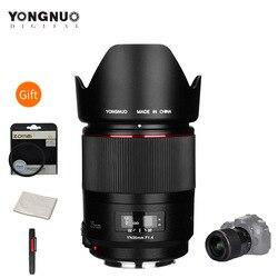 Широкоугольный объектив YONGNUO YN35mm F1.4, линзы в полной оправе для цифровых зеркальных камер Canon 70D 80D 5D3 MARK II 5D2 5D4 600D 7D2 6D 5D II
