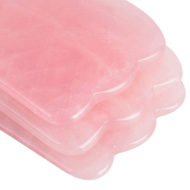 Rose Quartz Jade Guasha Board Natural Stone Scraper Chinese Gua Sha Tools For Face Neck Back Body Acupuncture Pressure Therapy 3