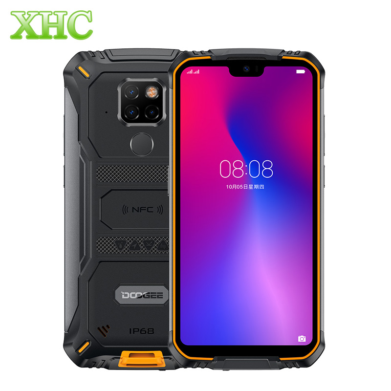 DOOGEE S68 Pro Android 9.0 5.84inch Mobile Phone RAM 6GB ROM 128GB Helio P70 Dual SIM Fingerprint Unlocked LTE 4G OTG Smartphone