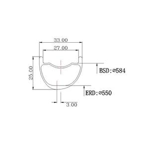 Image 2 - LIENGU limit 110Kg 350g 27.5er MTB XC 33mm x 25mm depth tubeless clincher asymmetric carbon rim cross country bicycle wheel 650B