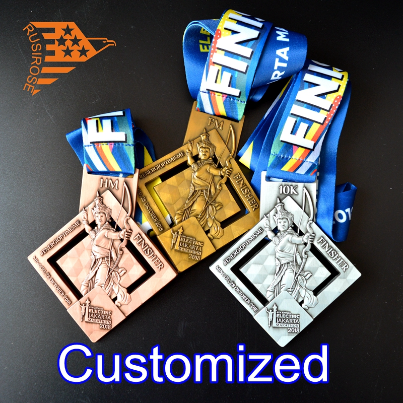 Customized Metal Medals, Bicycle Races, Running, Sports Games, Taekwondo Club Medal Customization, Custom Gold Medal Production