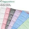 Kaguyahime 3D Selbst-Adhesive Wand Aufkleber Wasserdichte Nachahmung Ziegel Geprägte Home Dekoration Tapete Kidroom Küche Schlafzimmer