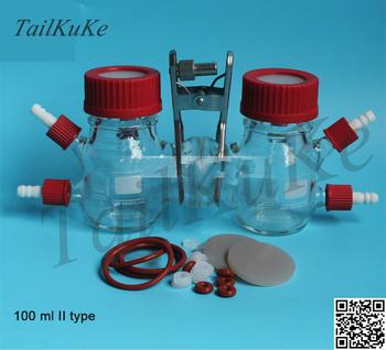 MFC reaktor typu H mikrobiologiczne ogniwo paliwowe ogniwo chemiczne 100ml typ II tanie i dobre opinie TailKuKe Elektryczne