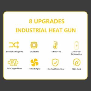 Image 5 - Pistola de aire caliente para soldar, secador de pelo con control de temperatura, soldadura de aire caliente para construcción, pistolas de calor