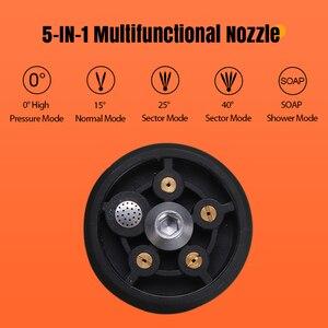 Image 3 - 319PSI 4000mAh akumulatorowa myjka z dużą mocą wysokociśnieniowa myjnia samochodowa pistolet Spray do samochodu ogród strumień wody pod ciśnieniem narzędzia do czyszczenia przenośny środek czyszczący