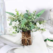 Искусственный эвкалипт искусственный бонсай имитирующий эвкалиптовые ветви растения для домашнего декора свадебные цветочные композиции