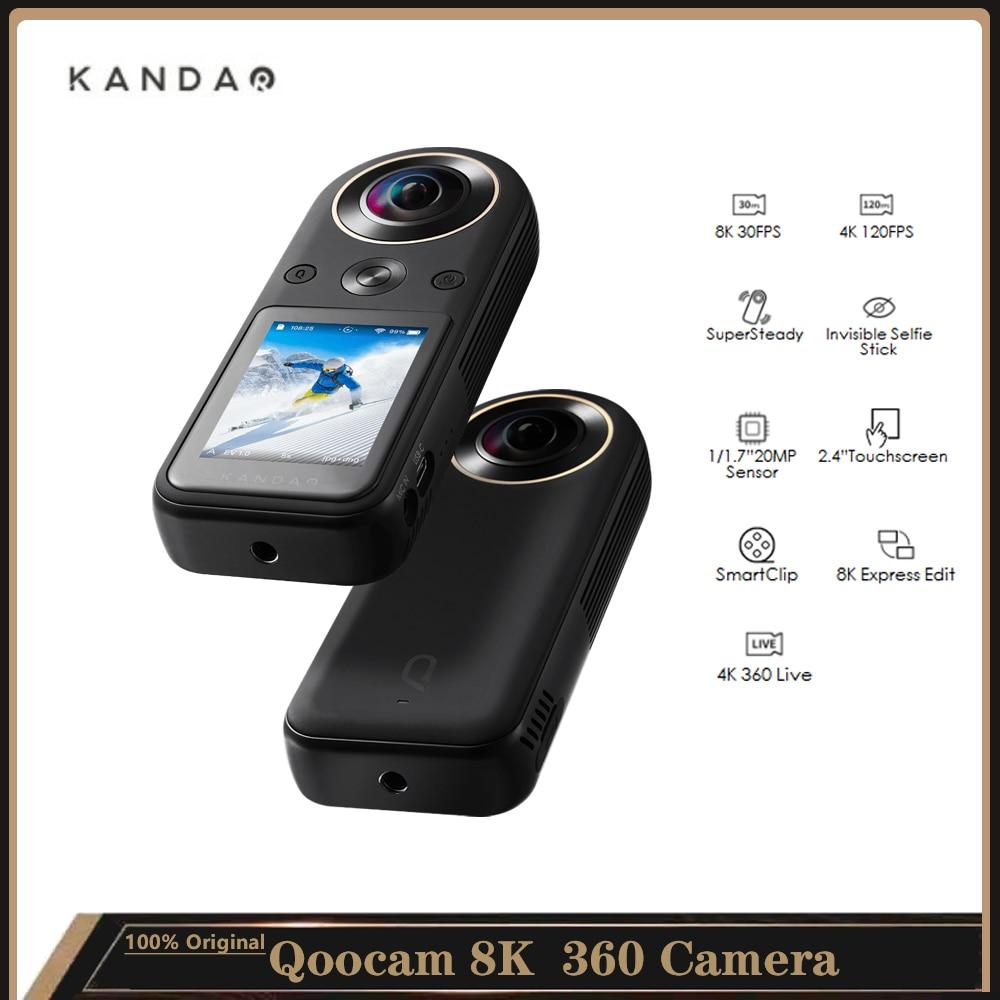 "Kandao Qoocam 8K 360° Video Camera Build-in 64G Highspeed Storage with 1/1.7"" Sensor/2.4""Touchscreen/SmartClip/8K Express Edit"