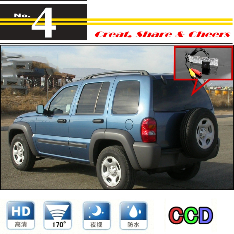 LiisleeCar Camera For Jeep Liberty 2002~2007 High Quality Rear View Back Up Camera For PAL / NTSC To Use   CCD With RCA