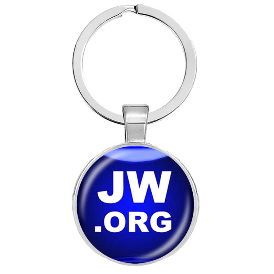 AZ พระยะโฮวาพยานพวงกุญแจแก้วอัญมณีพวงกุญแจเครื่องประดับ JW. ORG CUSTOM Photo บุคลิกภาพพวงกุญแจ JW. ORG พระคัมภีร์ Llaveros