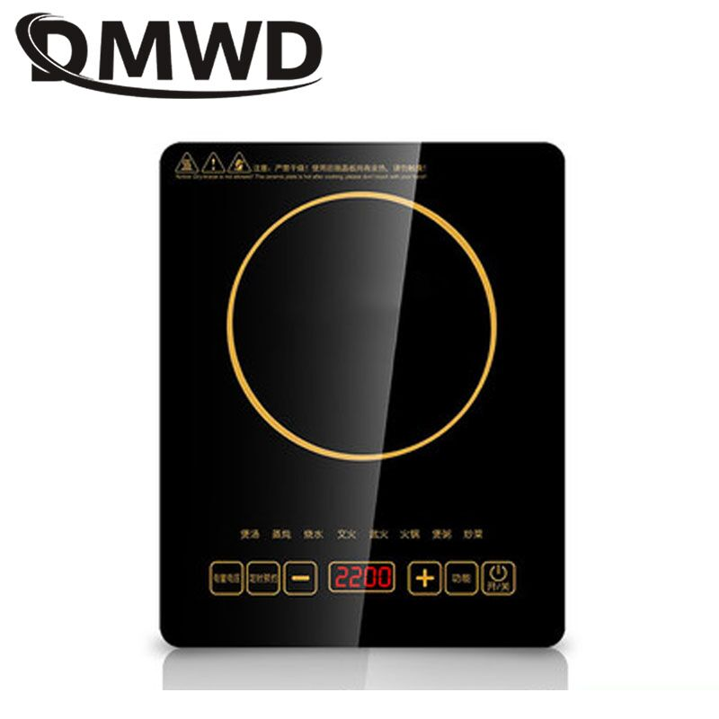 DMWD Electric Magnetic Induction Cooker Waterproof Hot Pot Oven Furnace Cooking Stove Kitchen Hotpot Heater Cooktop 2200W EU US