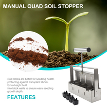Ergonomic Garden with Comfort Grip Cuttings Outdoor Eco-Friendly Manual Quad-Soil-Stopper