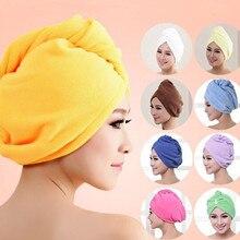 Towels Hair-Hat Turban Shower-Cap Microfiber-Fabric Quick-Dry 1-Pc Lady