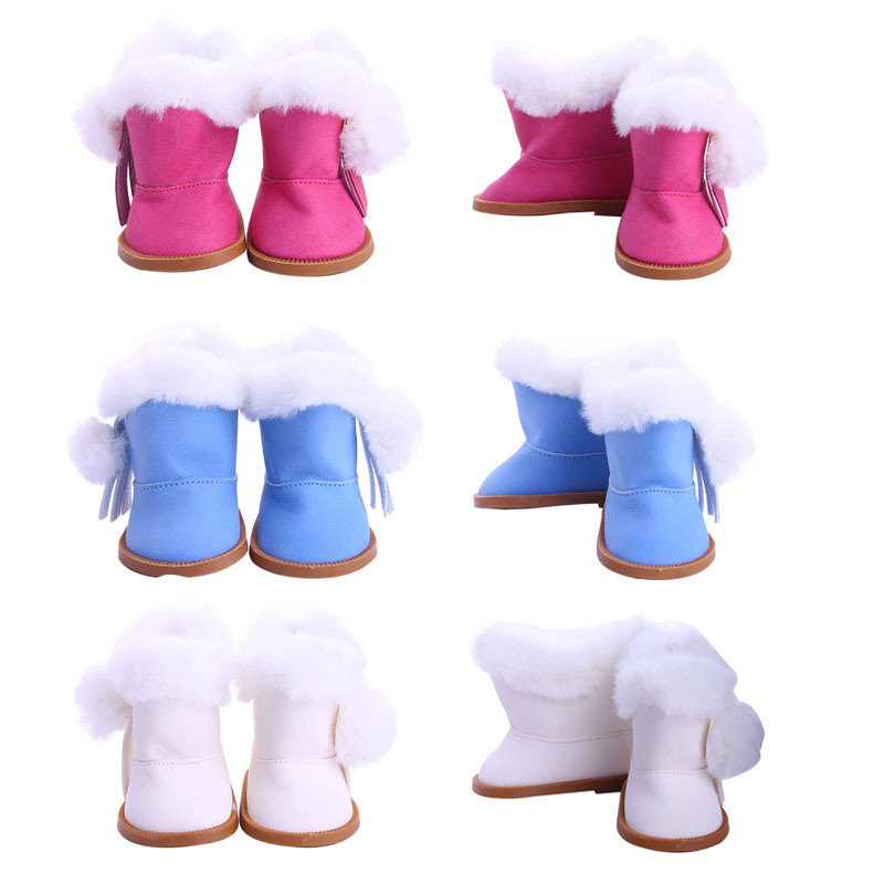 Doll 14Styles Color Quality Boots For 18 Inch American & 43 Cm Born Baby For Our Generation Birthday Girl's Toy Gift