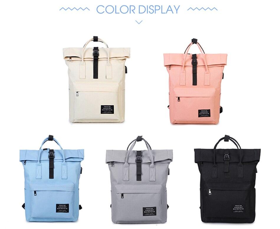 Hfaf41b6d4ea843e2aa181ca6ef4b2d93F TTOU Women External USB Charge Backpack Canvas School Backpack Mochila Escolar Girls Laptop Backpack