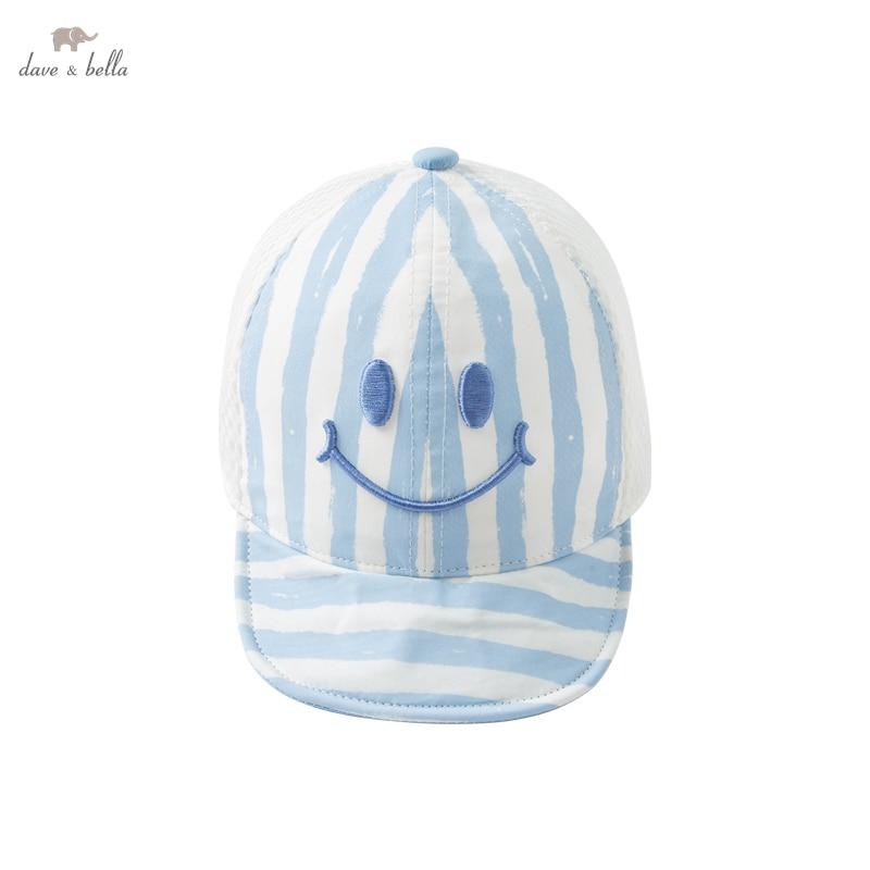 DBX17905 dave bella summer fashion new born baby boys cartoon striped print hat