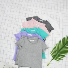 birthday tee Tide brand with the new product summer new children's pajamas set girls suit