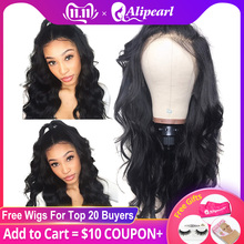 Fake Scalp Frontal Wigs Human-Hair-Wigs Alipearl-Hair Body-Wave Lace-Front Pre-Plucked