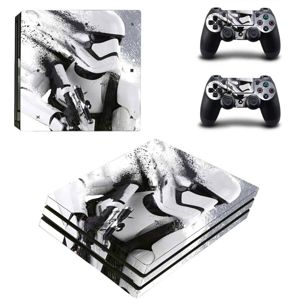 PS4 Pro Star Wars Stickers PS 4 Play station 4 Pro Vinyl Skin Sticker Decals Cover For PlayStation 4 Pro console and controller image