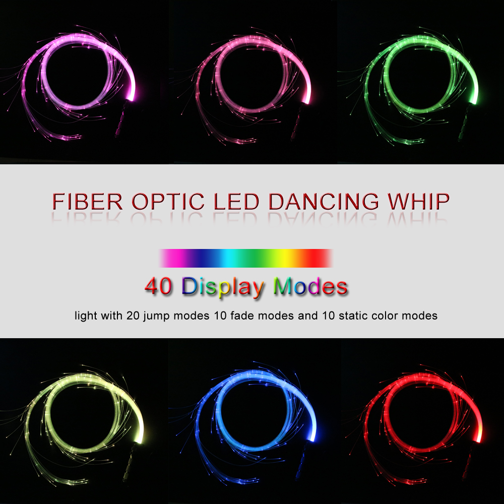 Image 5 - LED Fiber Optic Whip Dance Whip  360 Degree Multicolor fiber optic flashlight for Parties ,Lights Shows EDM Music Festival-in Optic Fiber Lights from Lights & Lighting on