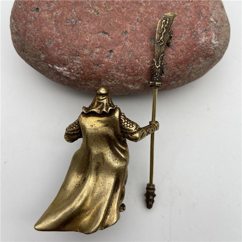Brass Guangong Figurines (4)