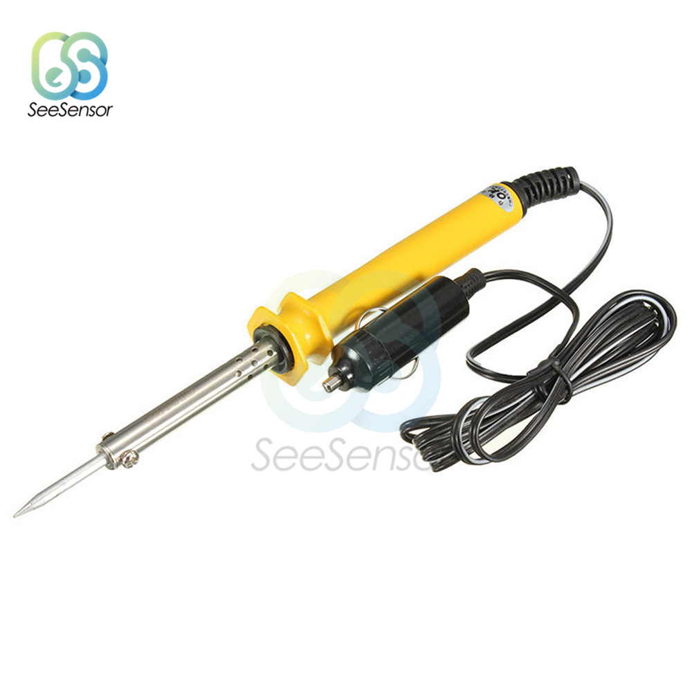 DC 12V 30W Electric Soldering Iron+Lighter Socket Plug For Auto Car Solder Repair Tools
