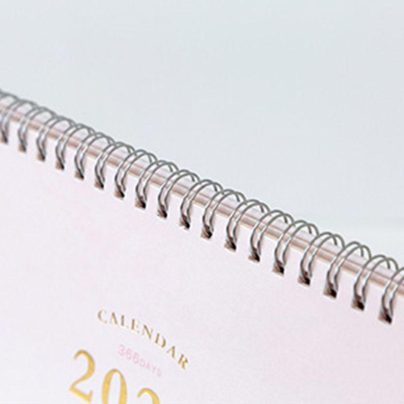 2020 Desktop Standing Coil Paper Calendar Memo Daily Schedule Table Planner Year