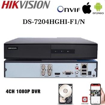 HIKVISION English Version DS-7204HGHI-F1/N 1080P 4CH CCTV XVR for Analog/HDTVI/AHD/IP Camera 1SATA