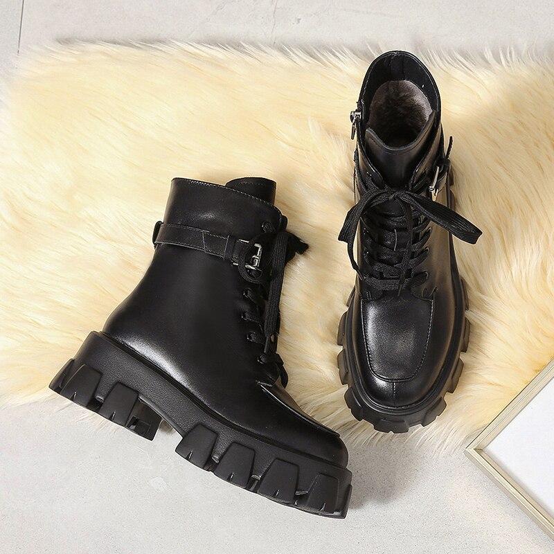 femininas sapatos de plataforma rendas até grosso-sola