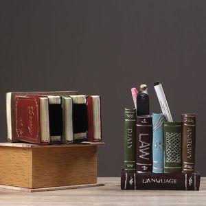 Image 2 - Sharkbang organizador de mesa, porta canetas vintage, de resina, organizador de mesa, ornamentos de papelaria para escola