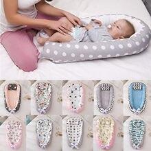 Cama de nido portátil para bebé, cuna de algodón para recién nacidos, cuna lavable extraíble con almohada
