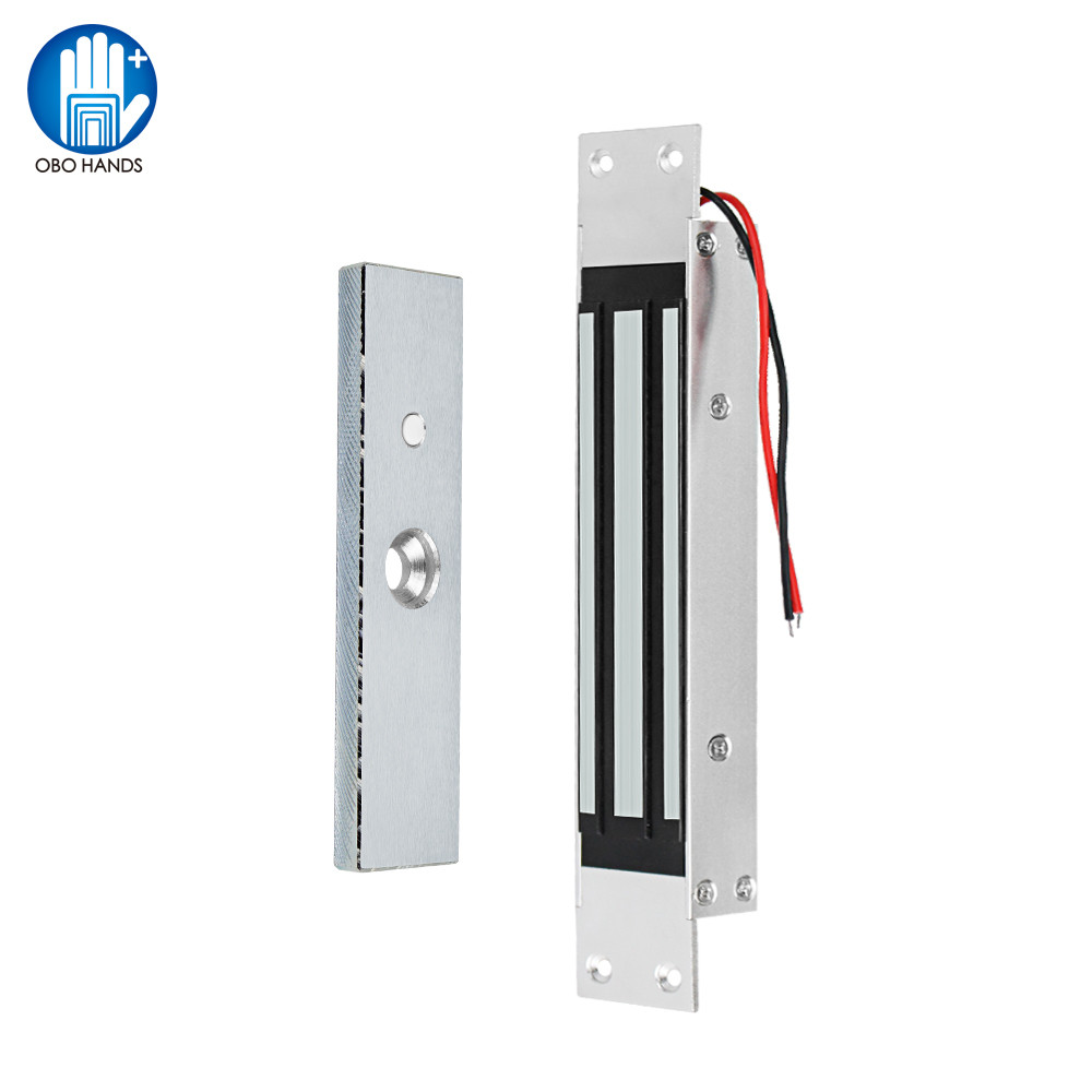 DC12V Embedded Electric Magnetic Door Lock 180kg/350lbs Electronic Magnet Lock for Wooden Glass Framed Single Door Waterproof|Electric Lock| |  - title=