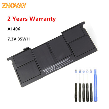 7.3V 35WH A1406 New Laptop Battery for Apple MacBook Air 11 A1406 A1370 (2011 Version),020-7376-A 020-7377-A MC968 MC969