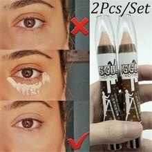 Crayon correcteur de visage, 2 pièces, Base, Crayon correcteur de Contour Des Yeux, bâton de couverture, correcteur de taches, fond de teint crème
