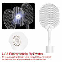 Mosquito Killer Insect Electric Mosquito Swatter With LED Lights USB Rechargeable Mosquito Killer Handheld Racket Insect Fly Bug