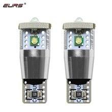 Eurs 2 pçs t10 w5w 3 led canbus luz branco marca chip lâmpadas cunha carro lâmpada de sinal volta cúpula luz indicador da lâmpada placa de licença