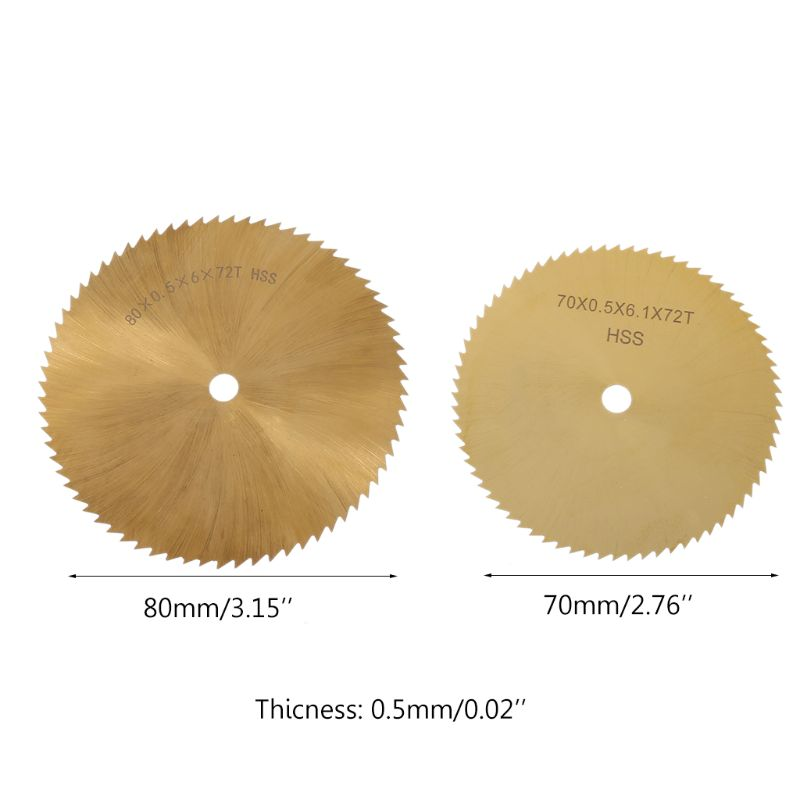 70/80mm Diameter HSS TI-coated Circular Saw Blade Metal Woodworking Plastic Cutting 6mm Hole High Speed Steel Cutting Blade