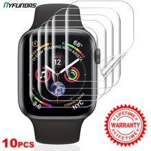 10 Uds Protector de pantalla para Apple Watch Serie 6 5 4 3 2 1 SE 44mm 40mm 42mm 38mm 40 42 44mm iwatch protección de película