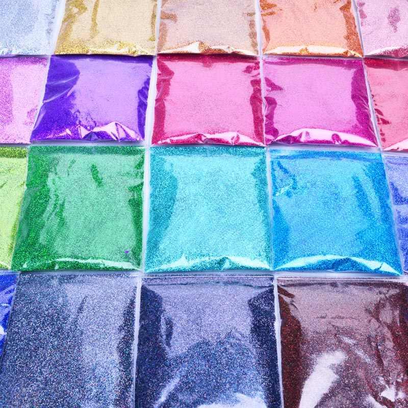 Rikonka 10G Holographic Glitter Powder Shining Sugar Silver Nail Fine Glitter Dust Nail Art Decorations Manicure 21 Colors 0.2mm