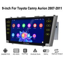 أندرويد 10.0 9 بوصة 2 الدين راديو سيارة 4GB + 64GB رئيس وحدة تحديد المواقع والملاحة ثماني النواة لتويوتا كامري 2007 2011 دعم 3G/4G DSP BT