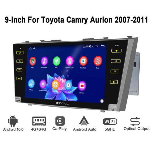 Android 10.0 9 inç 2 din radyo araba 4GB + 64GB kafa ünitesi GPS navigasyon Octa çekirdek toyota Camry 2007 2011 destek 3G/4G DSP BT