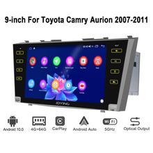 Noyau docta de Navigation de GPS dunité principale dandroid 10.0 9 inch 2 din 4GB + 64GB pour Toyota Camry 2007 2011 soutiennent 3G/4G DSP BT