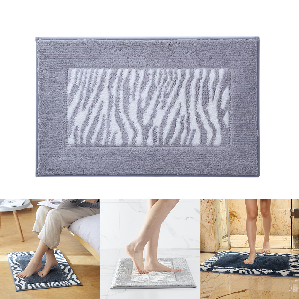 Bathroom Mat Floor Bottom Non Slip Door Way Rugs Decor Carpet Soft Fluff Bedroom Floor Shower Rug Decor For Home Oc25